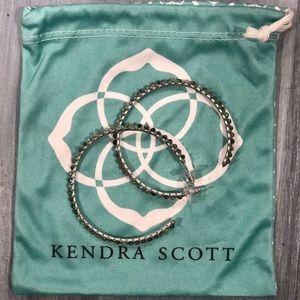 Kendra Scott Turquoise Beaded Hoop Earrings